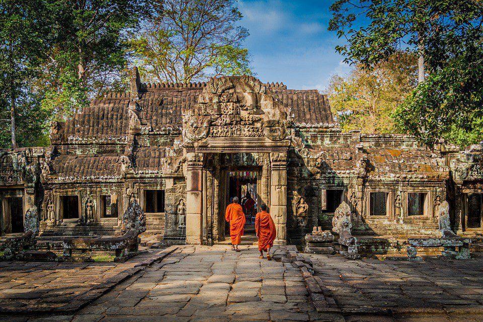 cambogia monaci tempio