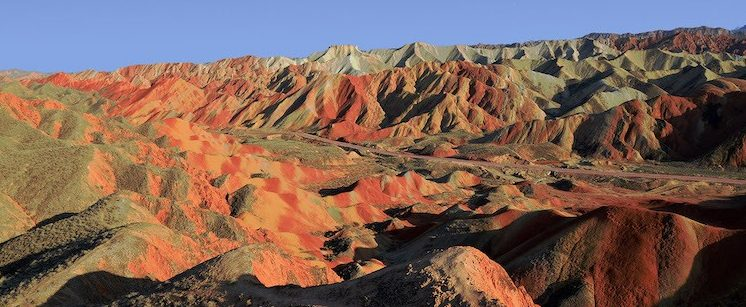 GANSU montagne colorate