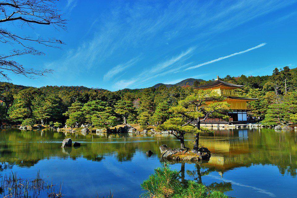 kyoto giappone tempio del padiglione d'oro