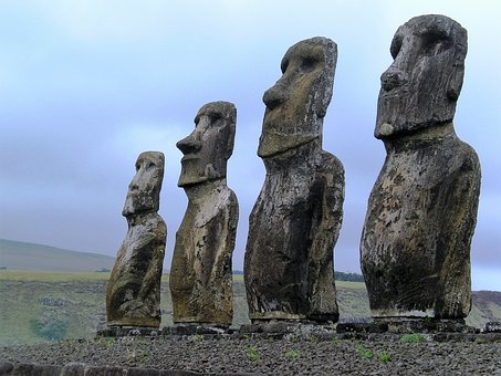 cile moai isola di pasqua