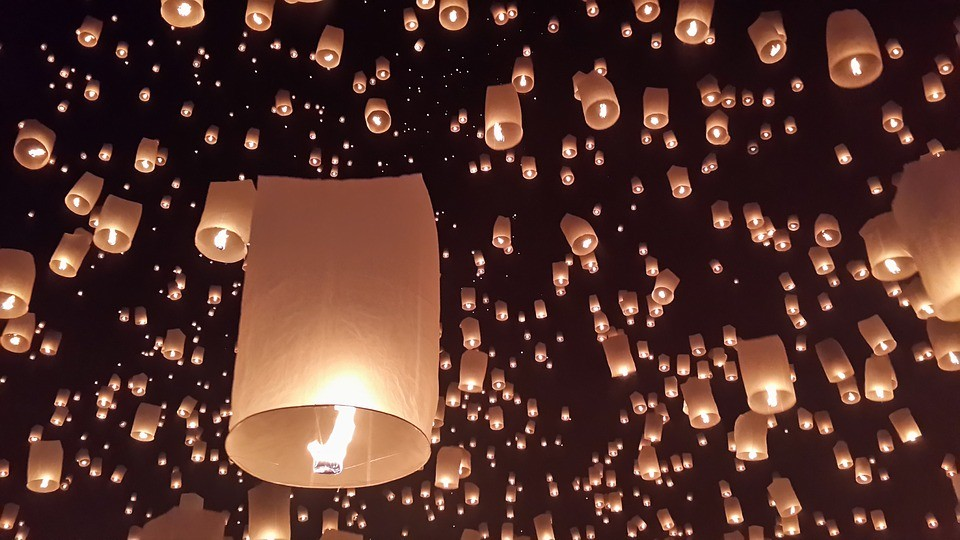 thailandia lanterne  - loi krathong - Thailandia: Il Festival delle Lanterne – Tour di Gruppo