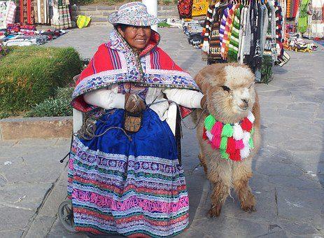 peru donna con alpaca