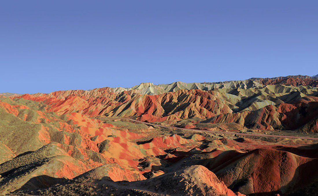 GANSU cina montagne colorate