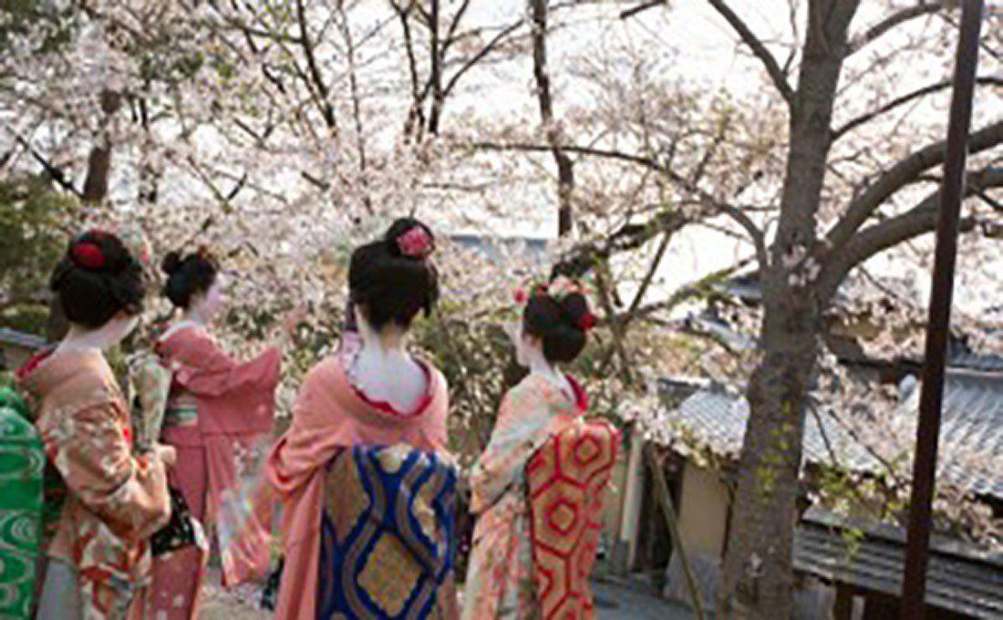 giappone tokyo ragazze con kimono