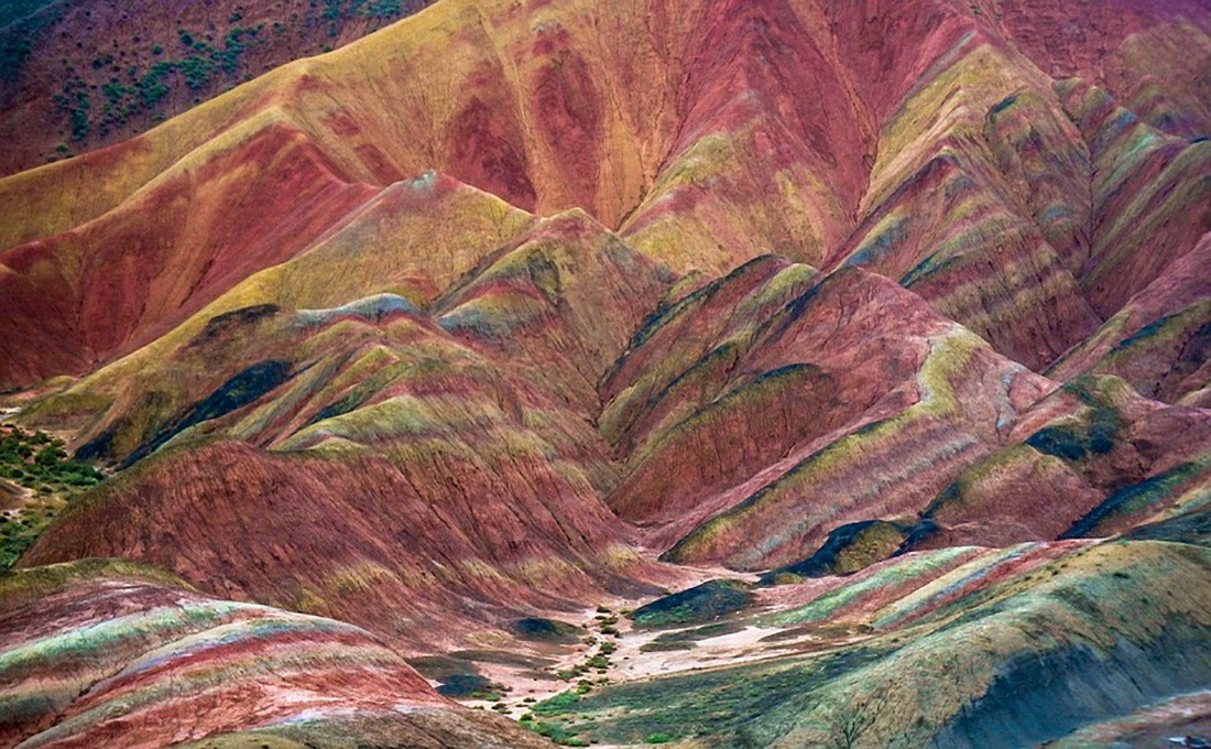cina montagne colorate