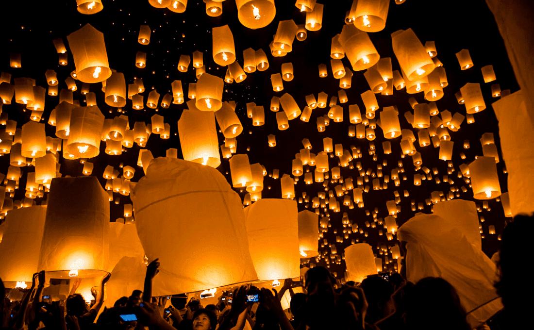- thailandia lanterna - Festival e Folklore dal Mondo